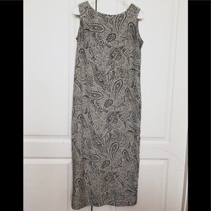 Leslie Fay Maxi Dress Retro 6P Petite